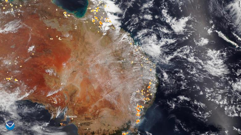 View from space shows the scope of the fires