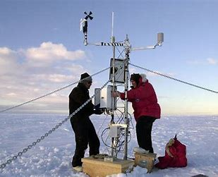 Climate scientists at work